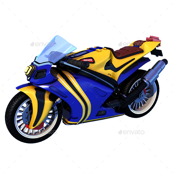 Cartoon Superbike - Miscellaneous 3D Renders