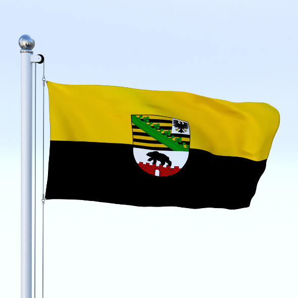 Animated Saxony-Anhalt German State Flag - 3DOcean Item for Sale