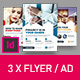 Corporate Business Universal Flyer/ad 3x Template Triangle White Indesign
