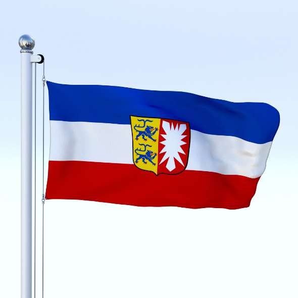 Animated Schleswig-Holstein German State Flag