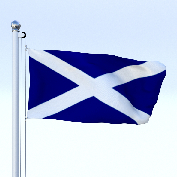 Animated Scotland Flag