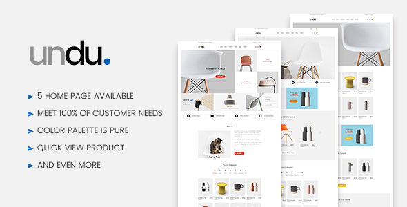 Undu - Furniture WooCommerce WordPress Theme