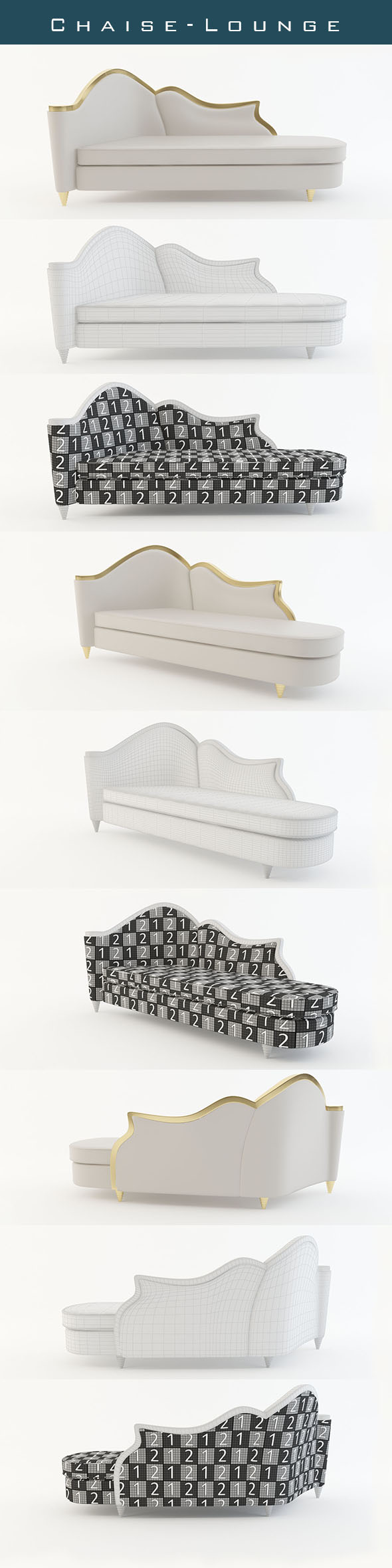 Chaise Lounge - 3DOcean Item for Sale
