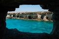 Sea caves. Ayia Napa, Mediterranean sea coast, Cyprus
