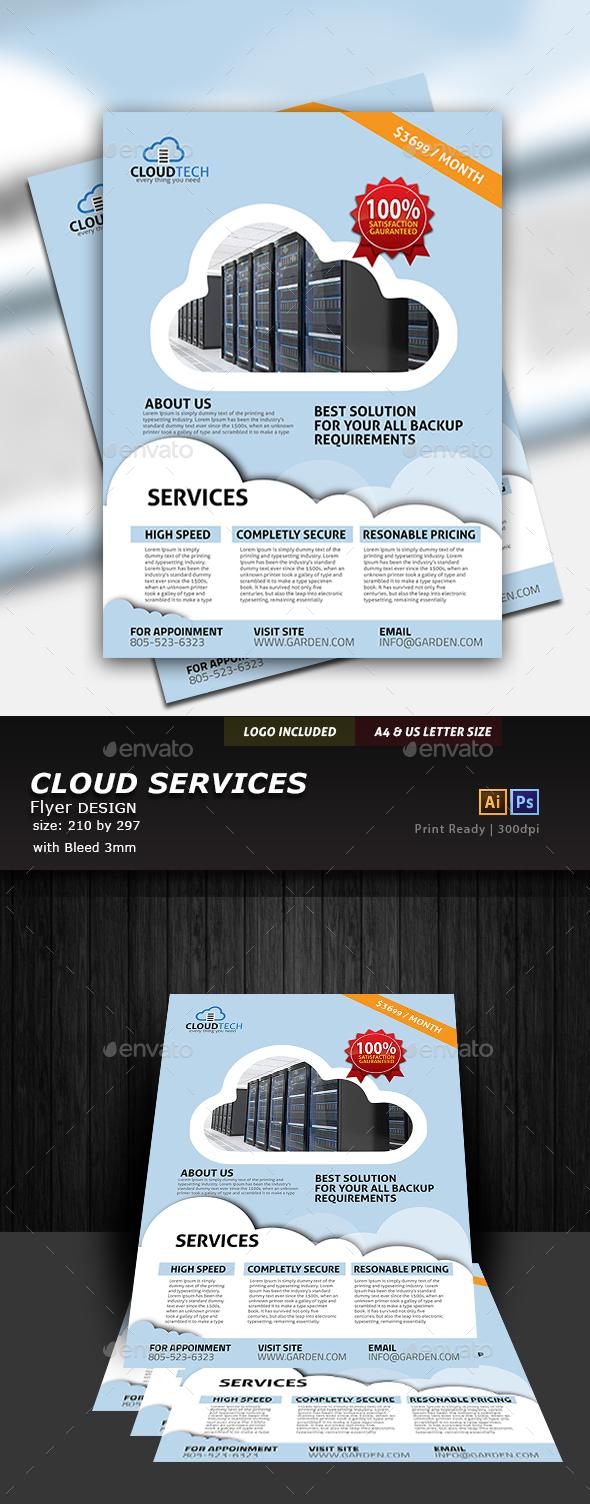 Cloud Flyer Design - Flyers Print Templates
