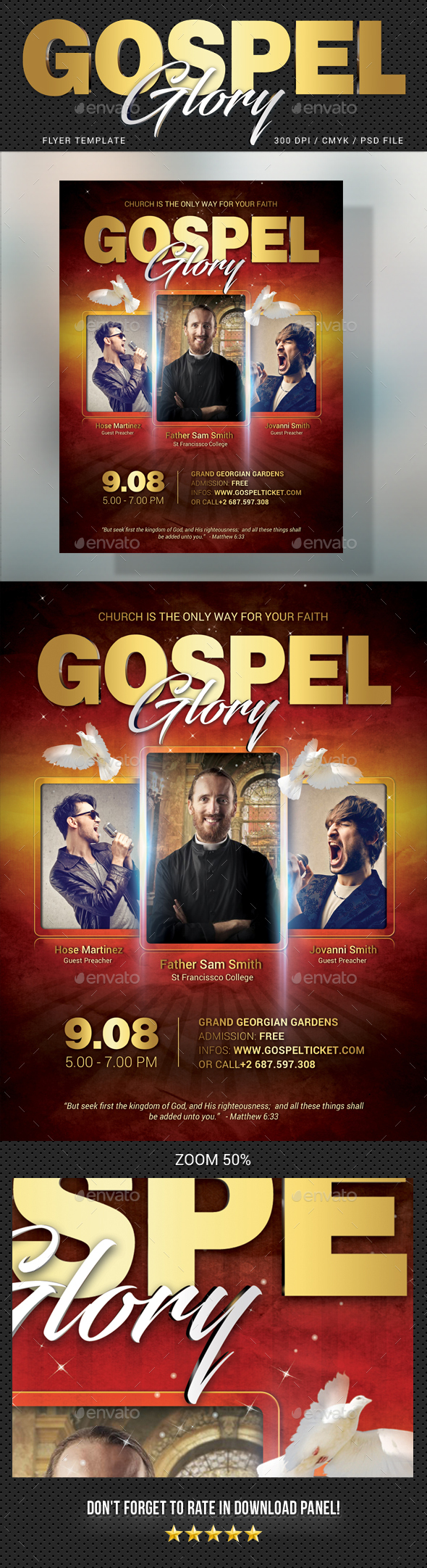GraphicRiver Gospel Flyer V3 20486393