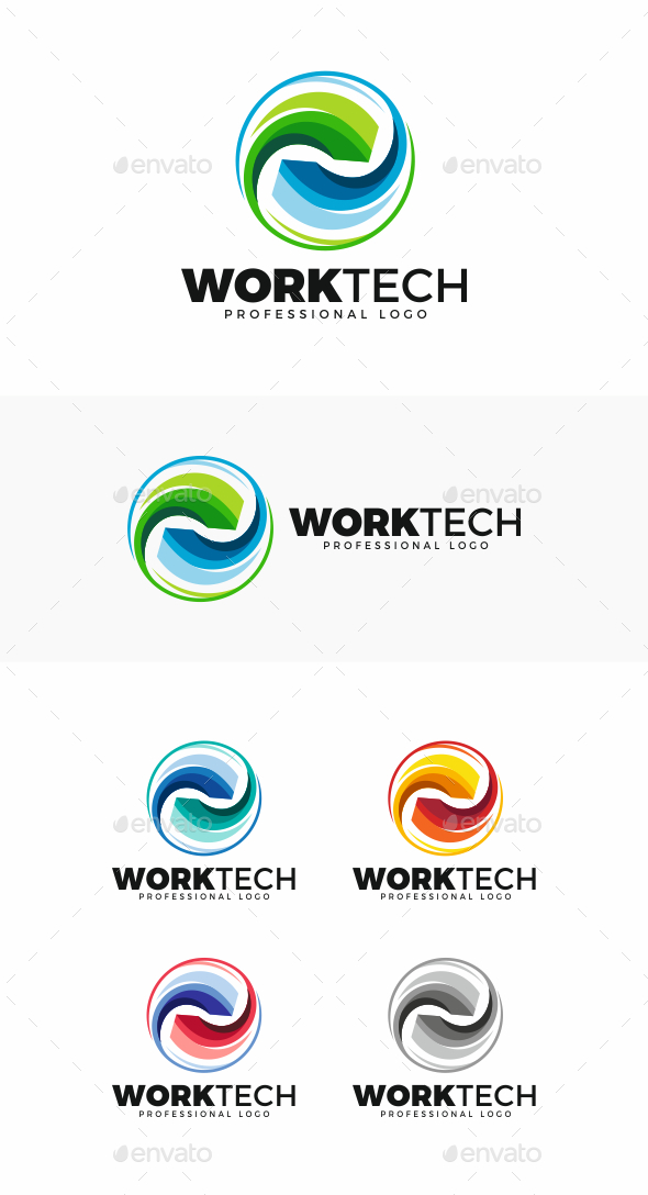 GraphicRiver Working Circle Logo 20486417