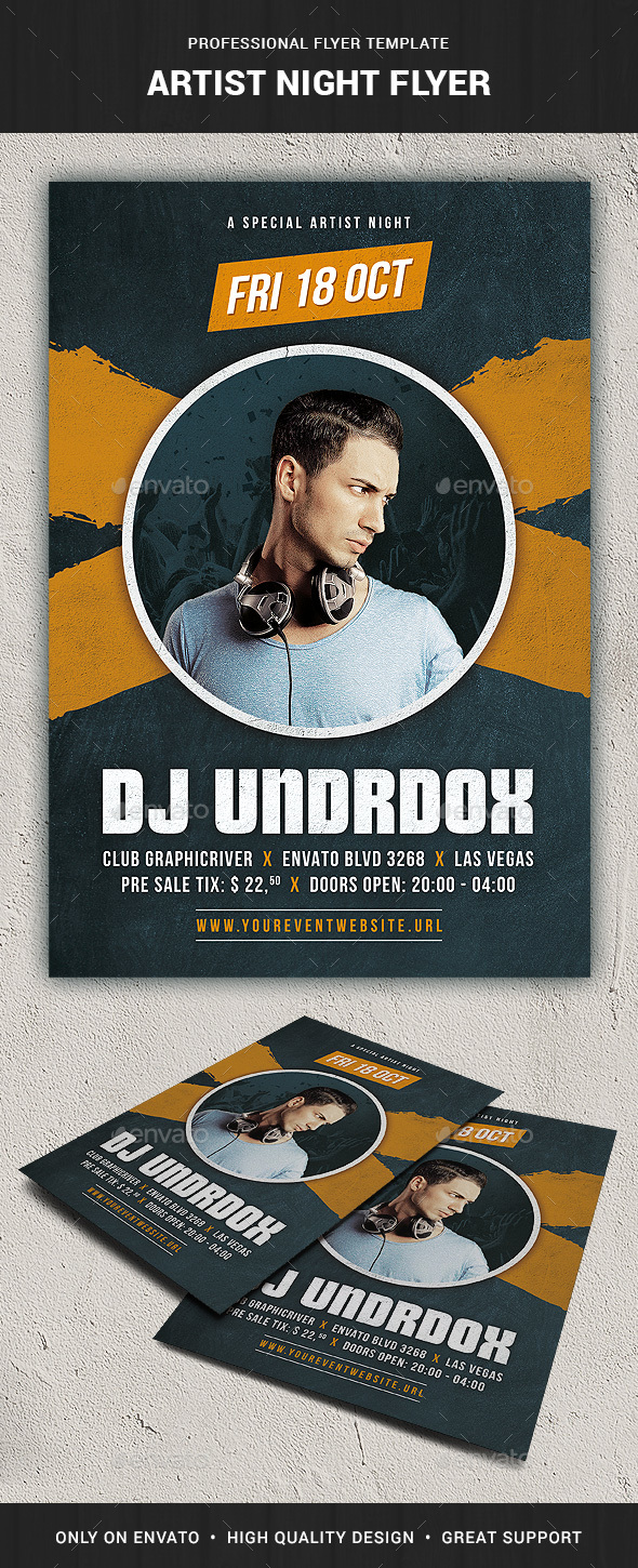 Artist Night Flyer Template - Clubs & Parties Events