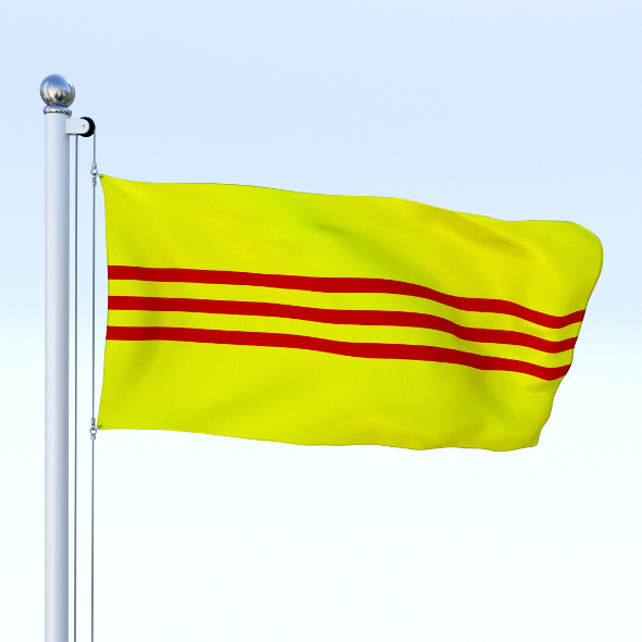 Animated South Vietnam Flag