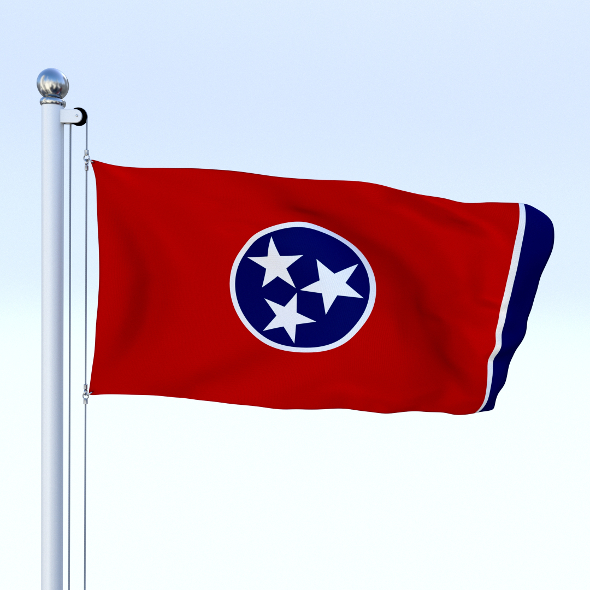 Animated Tennessee Flag - 3DOcean Item for Sale