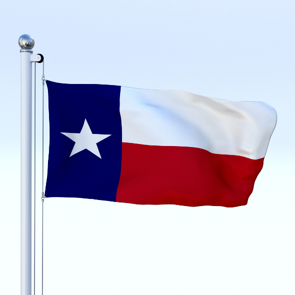 Animated Texas Flag - 3DOcean Item for Sale