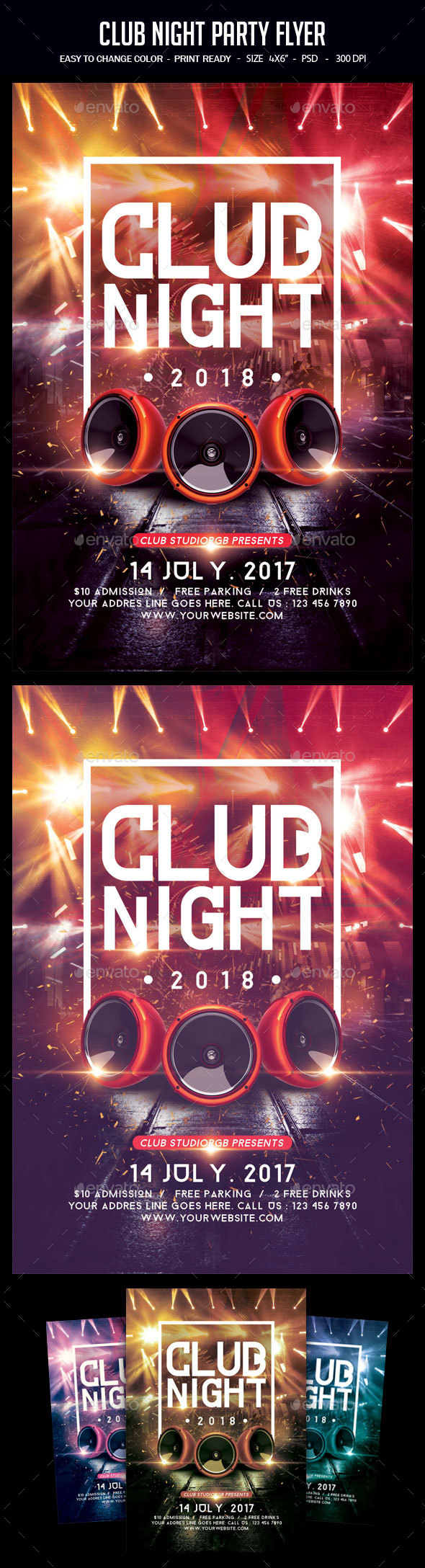 GraphicRiver Club Night Party Flyer 20486590