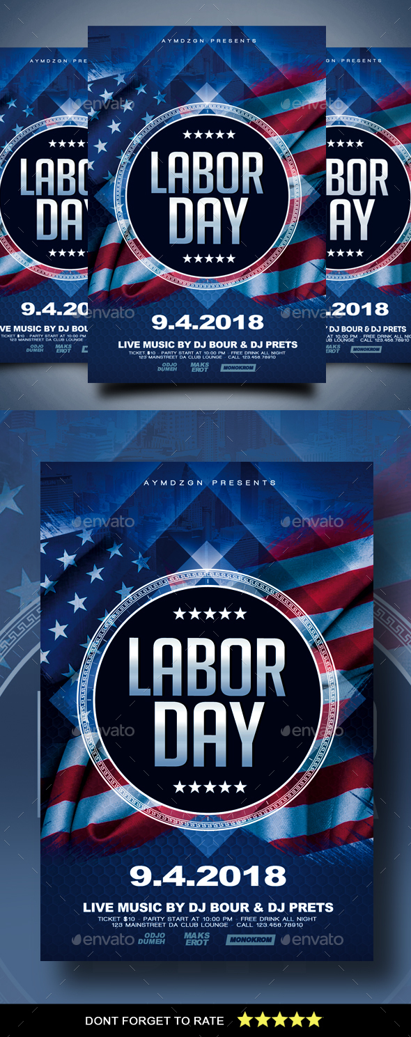 GraphicRiver Labor Day Flyer 20486644