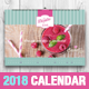 Vintage Cake 2018 Horizontal Calendar Template - GraphicRiver Item for Sale