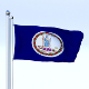 Animated Virginia Flag - 3DOcean Item for Sale