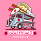 Food Truck Ramen Restaurant Fast Delivery Service Vector Logo - GraphicRiver Item for Sale