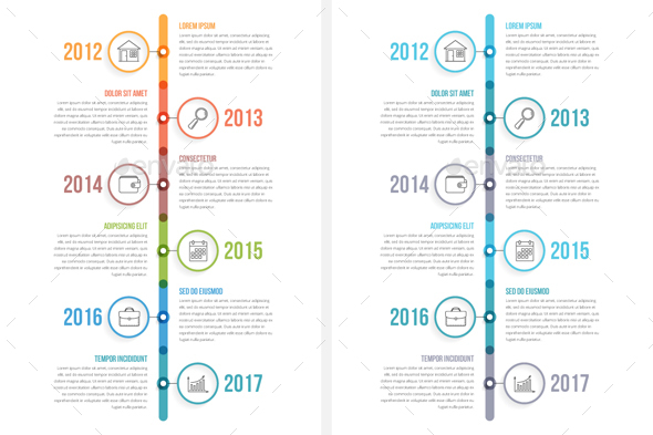GraphicRiver Vertical Timeline Infographics 20486862