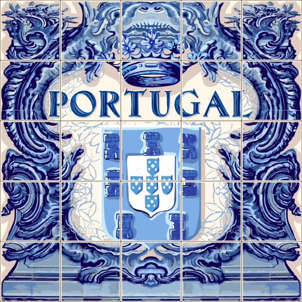 GraphicRiver Portugal Ceramic Tile Azulejo Vector Fridge Magnet 20486907