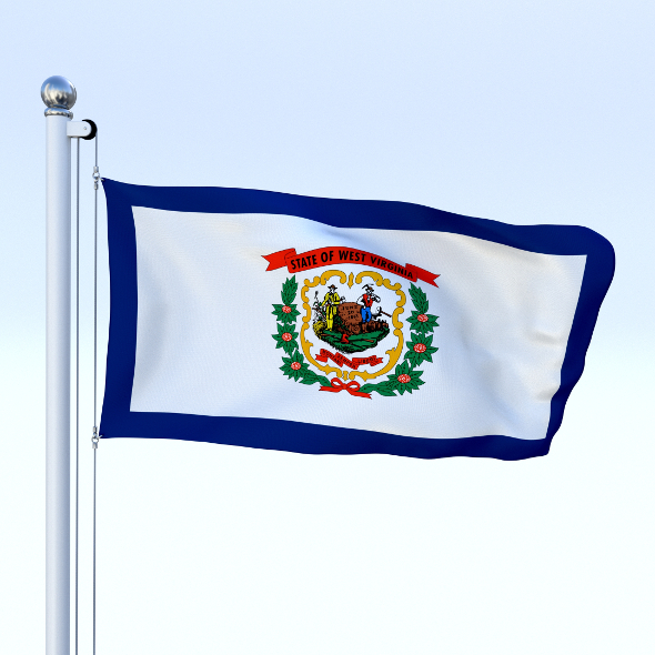 Animated West Virginia Flag - 3DOcean Item for Sale