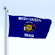 Animated Wisconsin Flag - 3DOcean Item for Sale