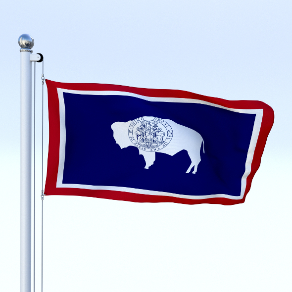 Animated Wyoming Flag - 3DOcean Item for Sale