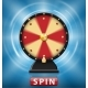 Realistic 3d Spinning Fortune Wheel Isolated with