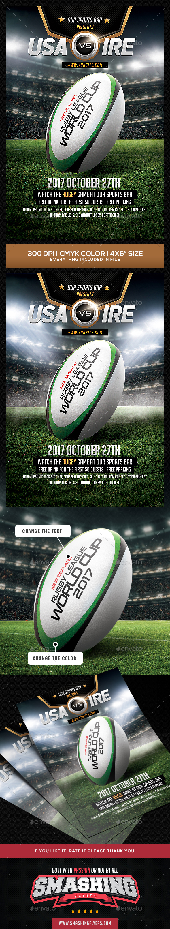GraphicRiver Rugby Flyer Template 20487139