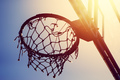 Basketball hoop on amateur outdoor basketball court - PhotoDune Item for Sale