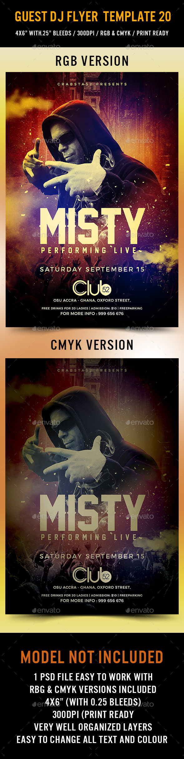 GraphicRiver Guest DJ Flyer Template 20 20487183