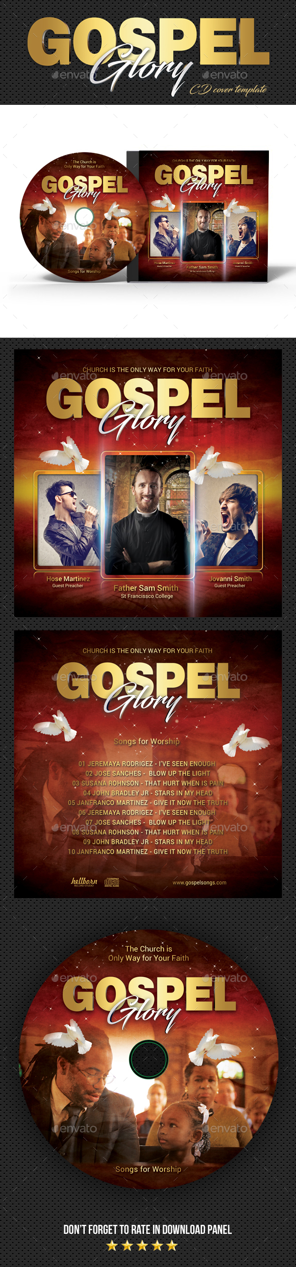 GraphicRiver Gospel Glory CD Cover 20487199