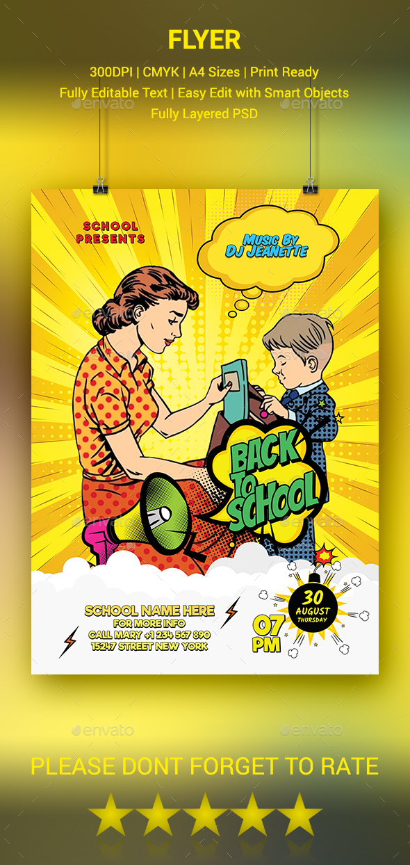 GraphicRiver Back to School Flyer 20487227