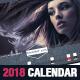 Stylish Corporate 2018 Horizontal Calendar Template - GraphicRiver Item for Sale