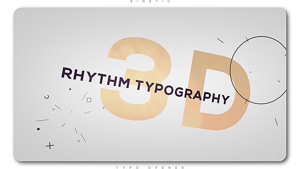 Videohive 3D Rhythm Typography Intro 20487522