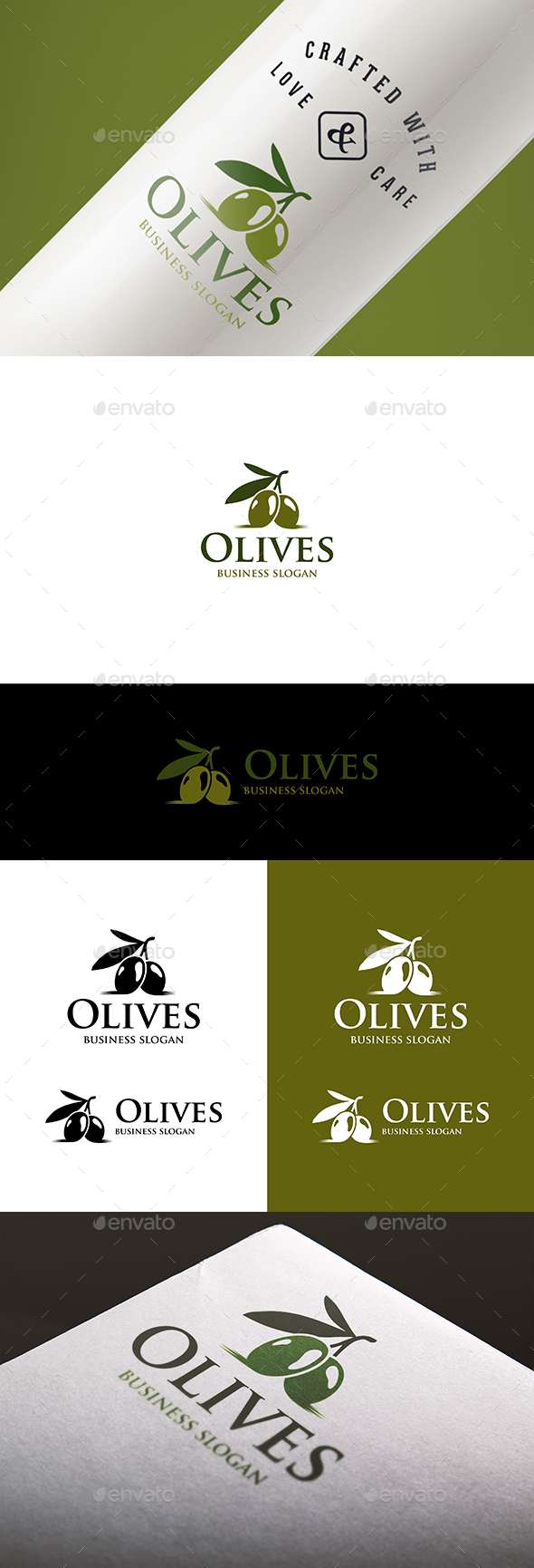 Olives Branch Natural Olive Logo - Nature Logo Templates