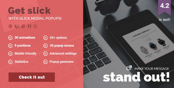 Slick Modal - CSS3 Powered Popups - CodeCanyon Item for Sale