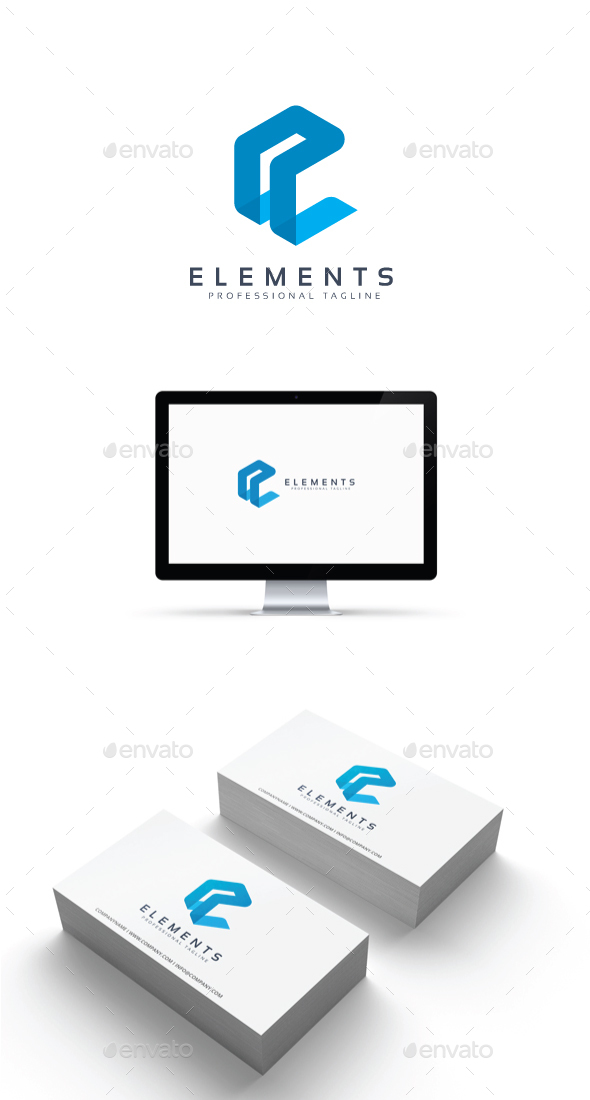 Letter E - Elements Logo - Abstract Logo Templates