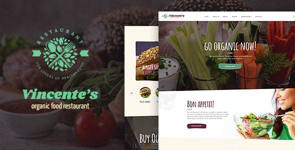 Image of Vincentes | Organic Food Restaurant WordPress Theme