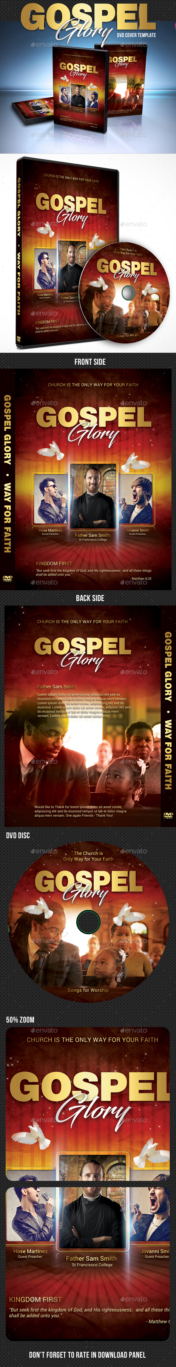 Gospel Glory DVD Cover Template - CD & DVD Artwork Print Templates