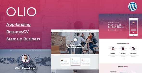 ThemeForest Olio Premium Multipurpose Landing WordPress Theme 20487826