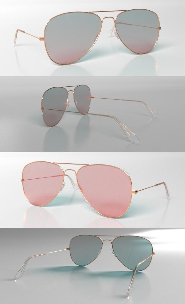3DOcean Ray Ban Sunglasses 20487848