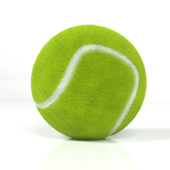 Realistic Tennis Ball - 3DOcean Item for Sale