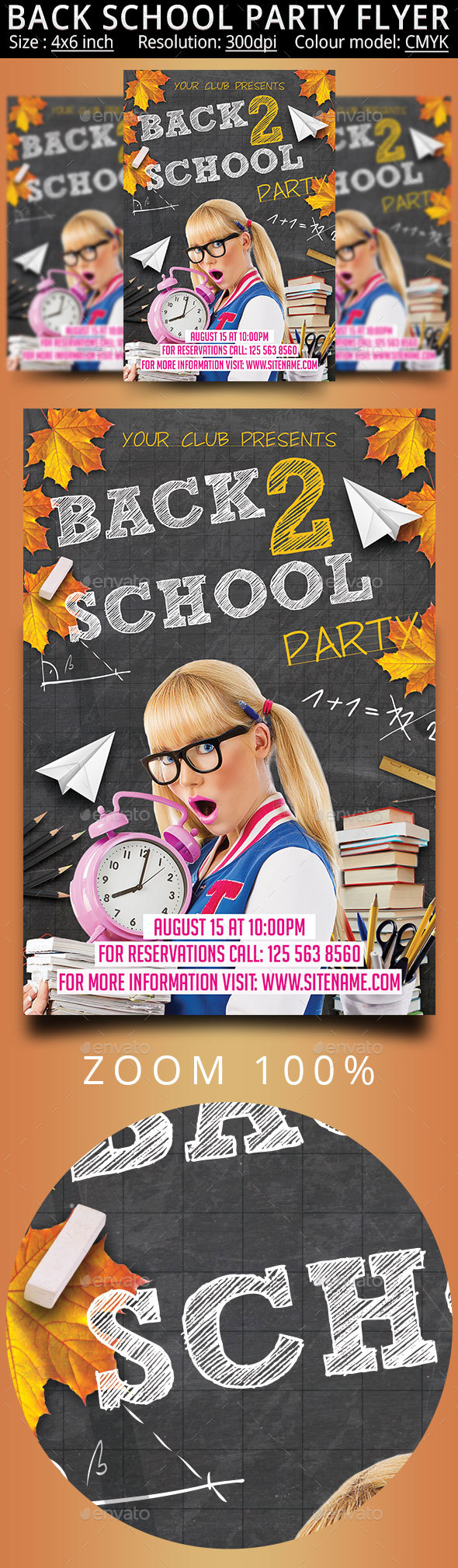 Back School Party Flyer - Events Flyers