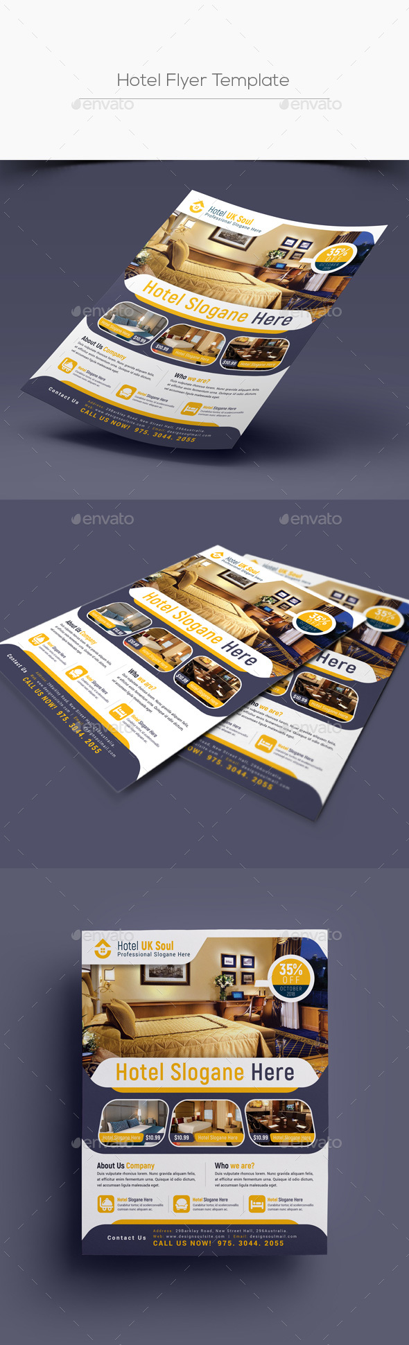 GraphicRiver Hotel Flyer Template 20487970
