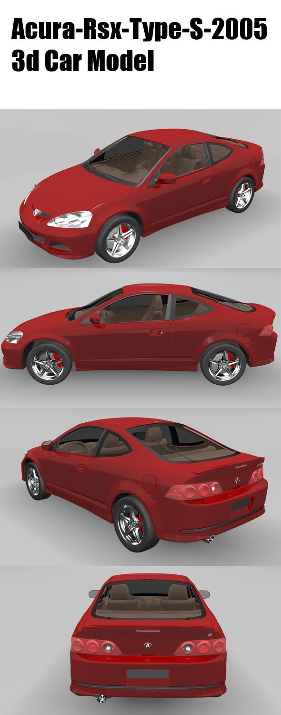 3DOcean Acura-RSX-Types-2005 20488033