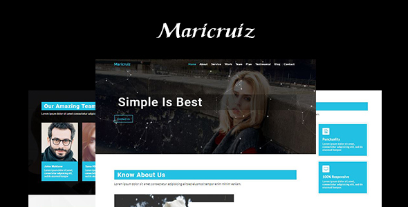 Maricruiz-Multipurpose One Page Template