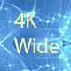 Translucent White Blue Kaleidoscope Widescreen