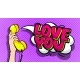 Love You Word Bubble in Pop Art Comics Style - GraphicRiver Item for Sale