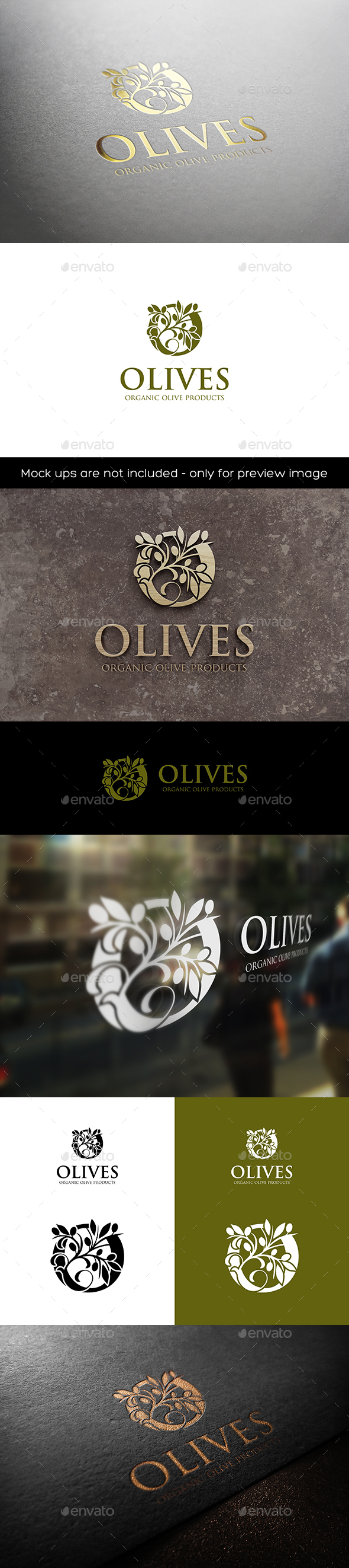 GraphicRiver Olives O Logo 20487694