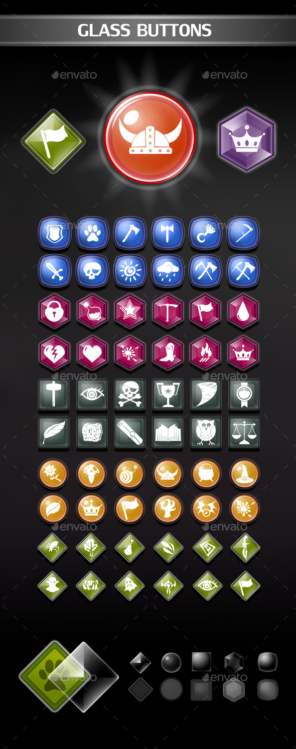 GraphicRiver Glass Buttons 20471438