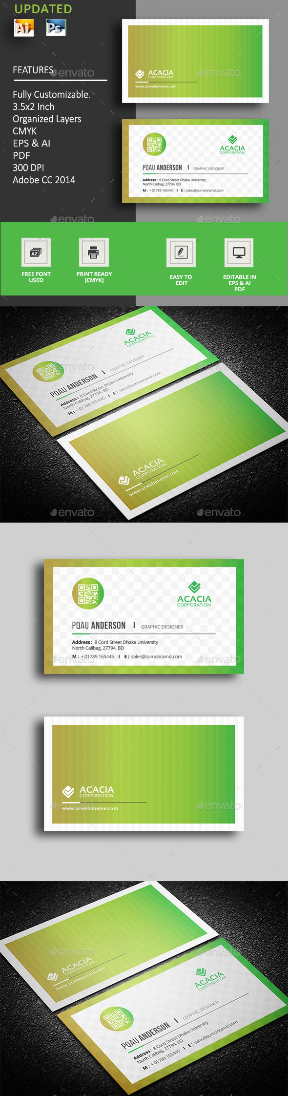 Gradient Business Card - Corporate Business Cards
